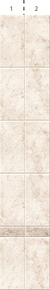 Космея белая фон (2шт.) 0,25*2,7м.