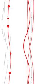 263 Жемчужные нити красные 0,25*2,5м.